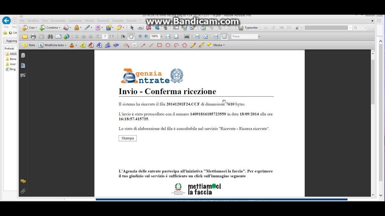 F24 web pagamento online parte 2 youtube for Pagamento f24