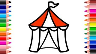 Circus Tent Drawing and Coloring Pages for Children | Setoys