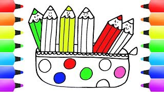 pencil drawings easy children draw learn pencils colorful