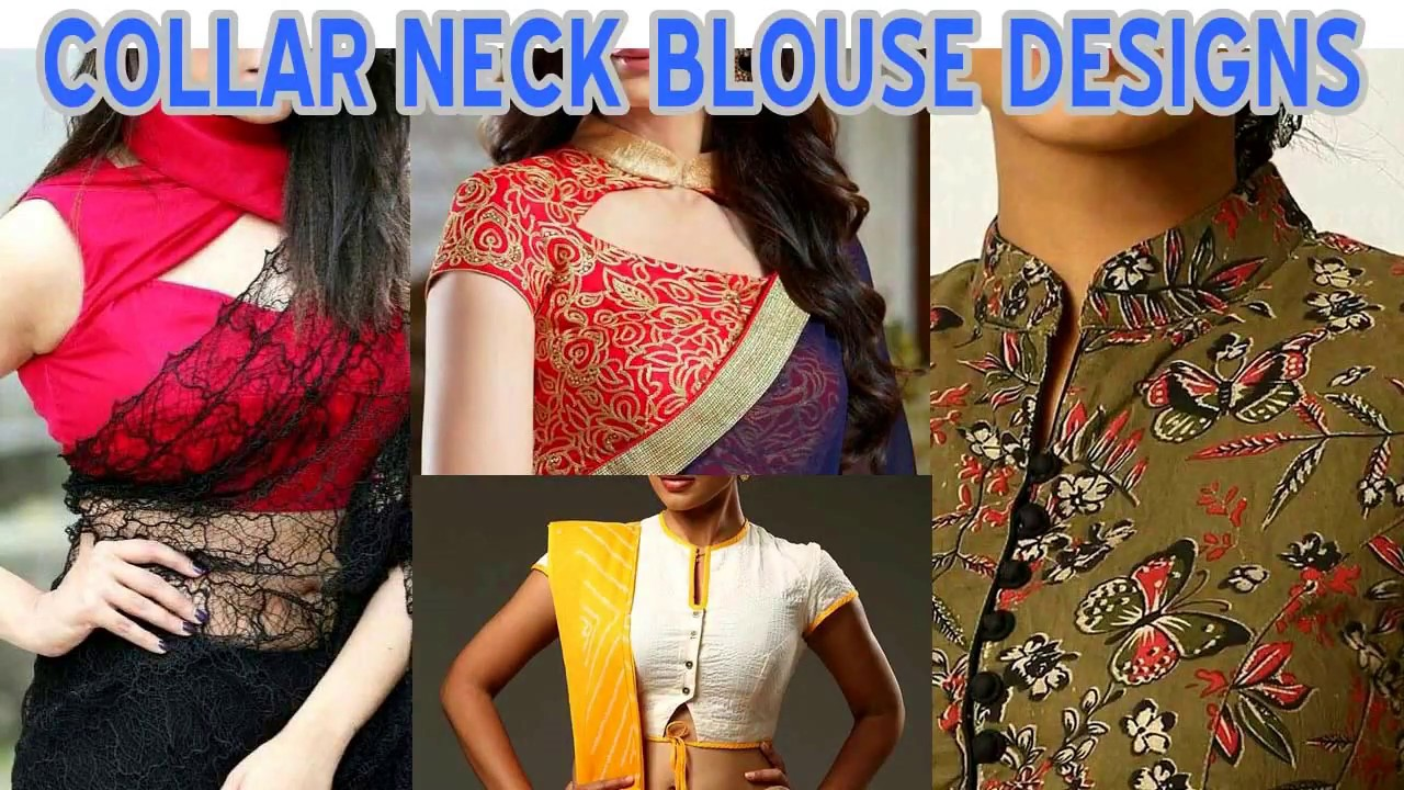 4a4a006e60f0ad Latest Top Beautiful Collar Neck Blouse Designs 2018 - YouTube