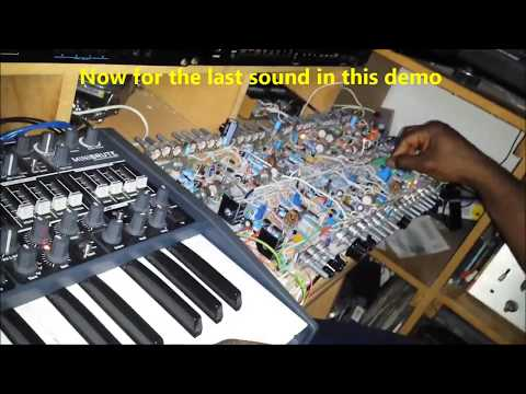 DIY analog synth project part 10i (Sound Examples Arp sequences)