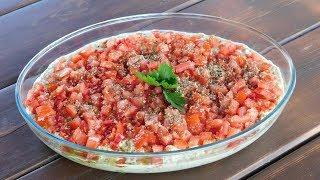 Овощной САЛАТ-РАГУ к мясу-грилю. Салат из баклажан.