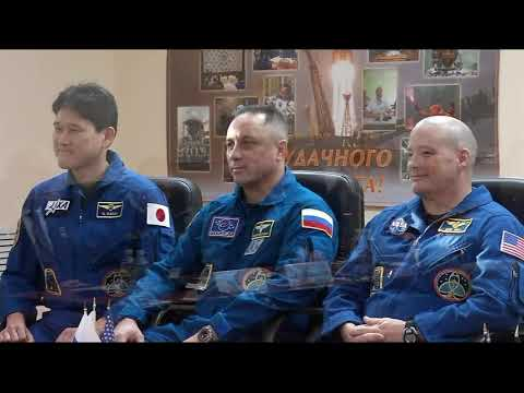 Russian State Commission Meeting and Final ISS Expedition 54-55 Crew News Conference