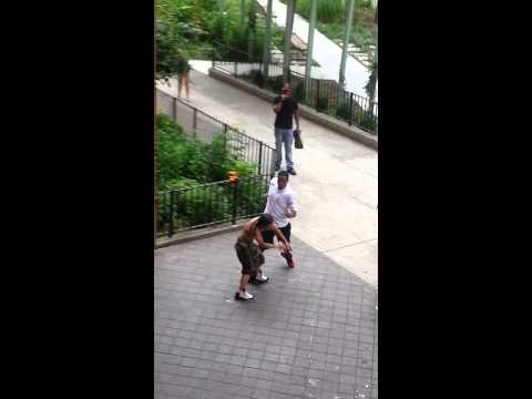 fight in the Lower east side, ave D