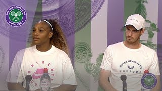 Andy Murray & Serena Williams Third Round Press Conference Wimbledon 2019