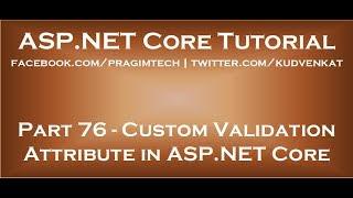 Custom validation attribute in asp net core