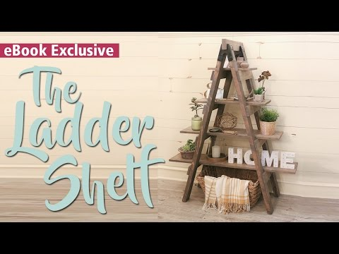 DIY Ladder Shelf | 3-Tool EBook
