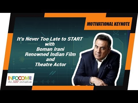 BOMAN IRANI, Renowned Indian Film and Theatre Actor at INFOCOM Calcutta 2016