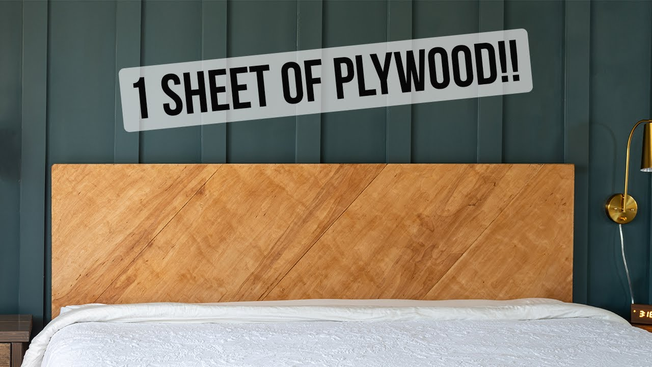 EASY DIY Plywood Headboard - Modern Wood headboard - Anika ...