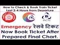 Emergency IRCTC रेलवे टिकट Now Book Ticket After Prepared Final Chart.