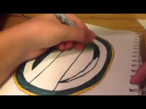 How to draw the Green Bay Packers logo