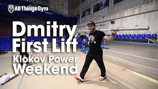 Dmitry Klokov First Lift at Klokov Power Weekend Competition