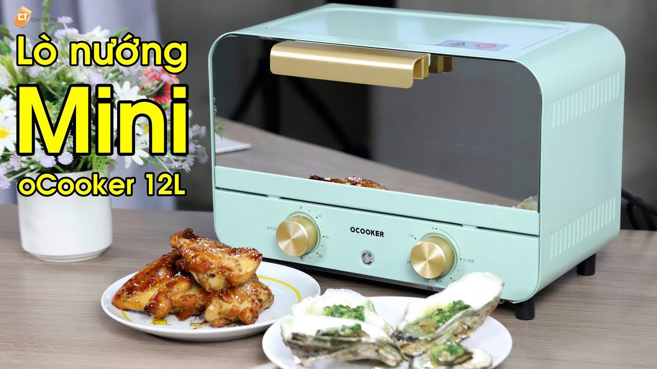 Lò nướng mini oCooker 12L - Công Suất 750W - Mang Đến Sự Đơn Giản Dễ Dàng  Nướng Chín Tất Cả Món Ăn - YouTube