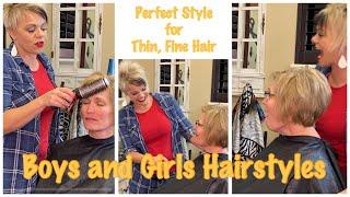 Haircut for Women Over 60 - A Line Asymmetrical Hairstyles For Thin Hair