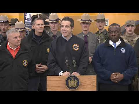 Governor Cuomo Holds Storm Briefing In Cheektowaga