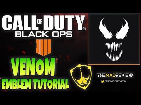 """COD BO4 Black Ops 4 Marvels """" VENOM """" Emblem Tutorial Guide How To Make"""