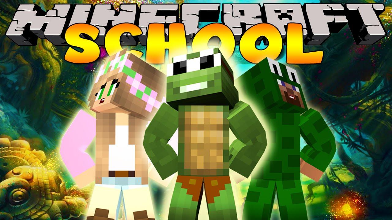 Minecraft School - THE SECRET SCHOOL GARDENS w/ Little Kelly