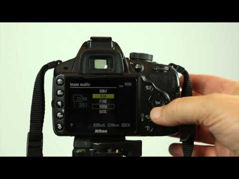 How to select Raw or jpg on the Nikon D3200