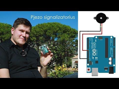 Arduino pamoka Nr. 9: Pjezo signalizatorius