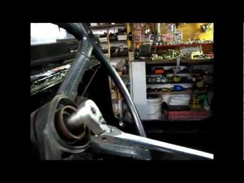 Steering Wheel removal Jeep CJ7 YouTube