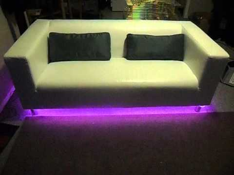 led lights color changing under sofa youtube rh youtube com Modern Black Living Room Furniture Light Blue Sectional Sofa