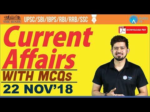 22 November 2018    The Hindu   Daily Current Affairs   Current Affairs    Railways, Bank, SSC