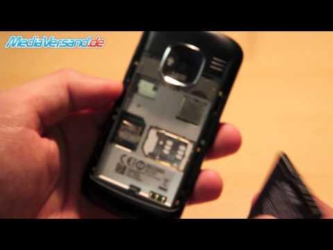 Nokia E5 SIM-Karte und Akku einsetzen Handy Telefon Mobile