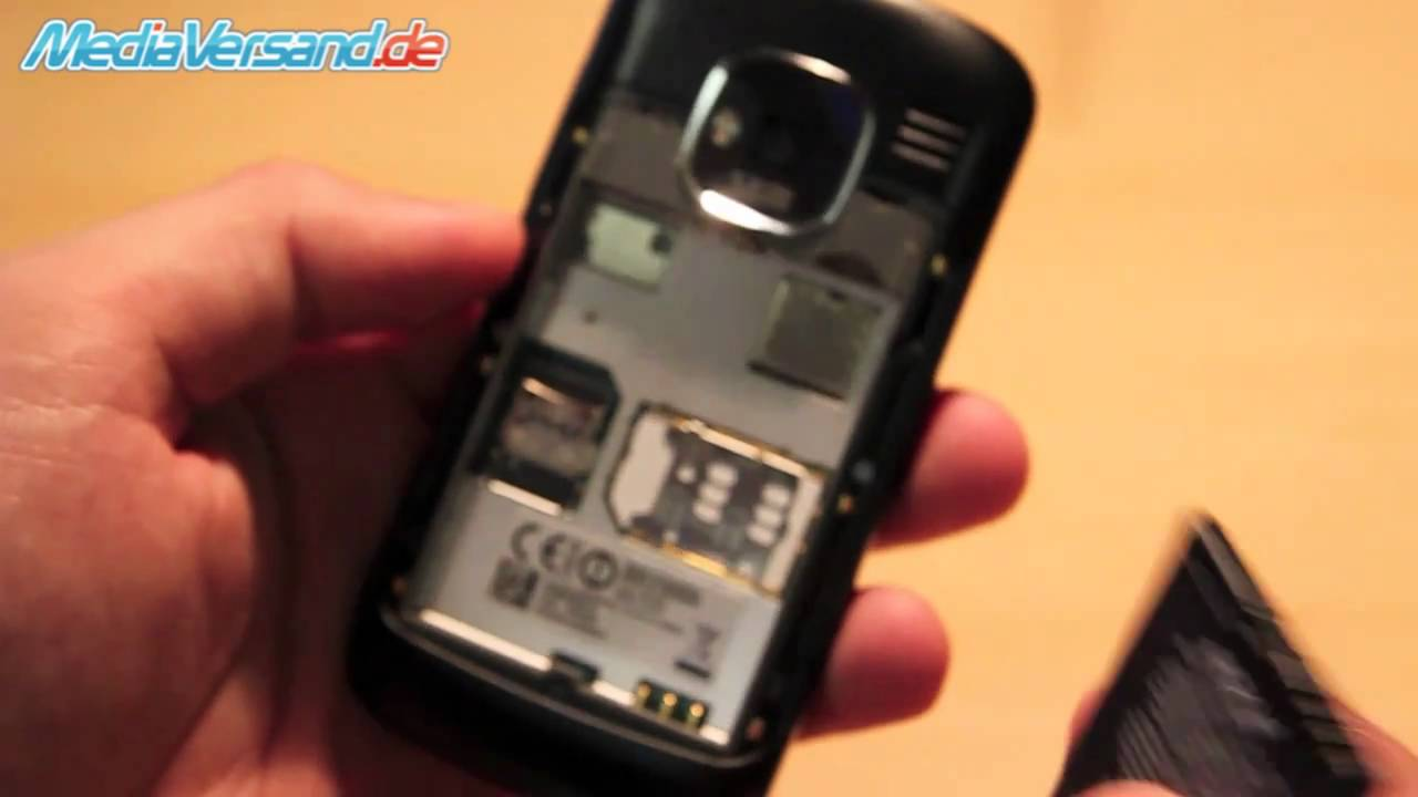Nokia E5 SIM Karte Und Akku Einsetzen Handy Telefon Mobile