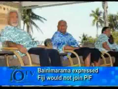 Bainimarama Expressed Fiji Would Not Join Pacific Islands Forum