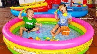Van and Nam Pretend Play Fishing Game, Fishing Toy for Children, BaBiBum