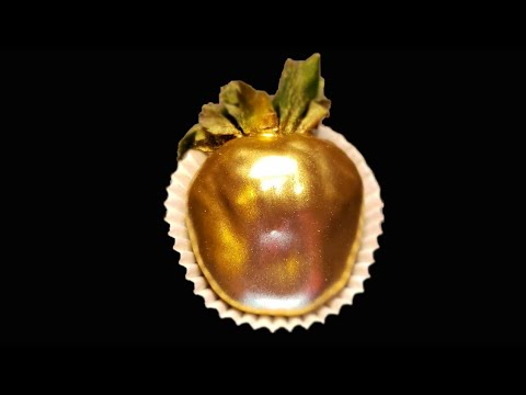 🍓How To Make A Gold Strawberry: Dry Dust Method🍓