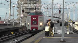 山陰本線出雲市駅に入線する列車たち 285系・381系・キハ120形・キハ47形