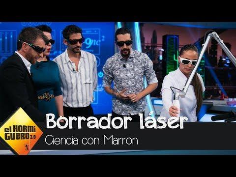 Debi Mazar y Paco León alucinan con el borrador láser acústico  El Hormiguero 3.0