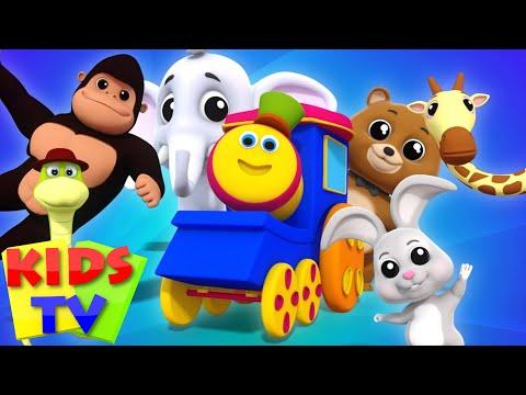 Animal Sound Song For Children | Kids Tv Bob The Train Nursery Rhymes