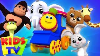 Animal Sound Song For Children   Kids Tv Bob The Train Nursery Rhymes