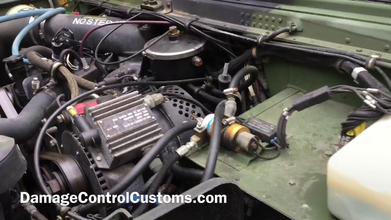 DIY HMMWV won't charge using a 200amp alternator. Cause: voltage on