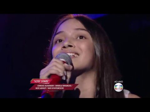 "Mayara Cavalcante canta ""Lost stars"" no The Voice Kids - Shows ao Vivo