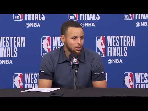 Stephen Curry Postgame Interview / GS Warriors vs Rockets Game 1