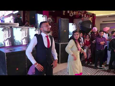 Punjabi Bhangra Performed by Simar & Noney on engagement party of Jagpreet & Navjeet