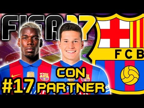fifa-17-fc-barcelona-modo-carrera-#17- -paul-pogba-y-2-titulos- -con-partner