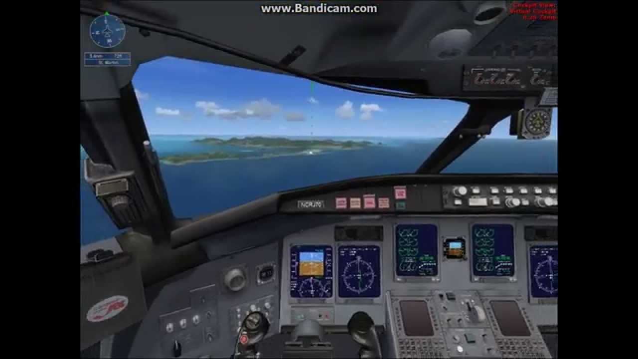 FSX(DEMO)-landing at Princess Juliana International Airport