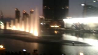 Dubai Dancing Fountain with beautiful Arabic music