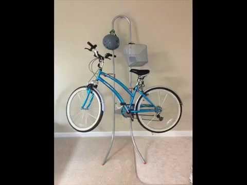 Delta Michelangelo Two Bike Gravity Stand; wall bicycle rack garage bike racks wall - YouTube & Delta Michelangelo Two Bike Gravity Stand; wall bicycle rack garage ...