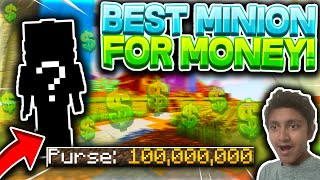 NEW Best Minion For Making Money While OFFLINE! (Hypixel Skyblock Guide)