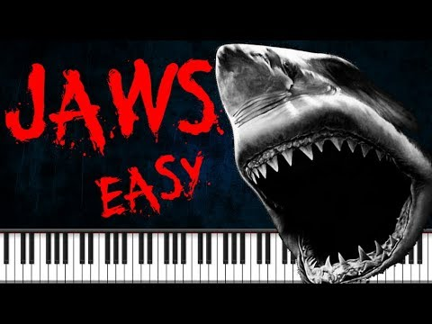 Synthesia [Piano Tutorial] Jaws theme - Easy version