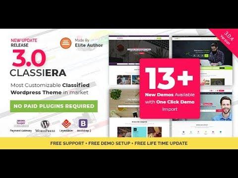 WordPress шаблон Classiera 3.0.4 - доска объявлений