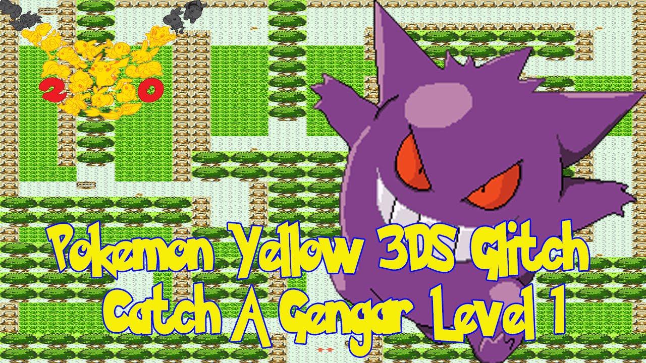 Pokemon Yellow 3DS – How To Get Level 1 Gengar – Pokemon Fun