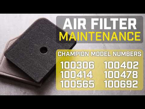 Champion Help Center: 2000-watt Inverter Air Filter Cleaning And Replacement