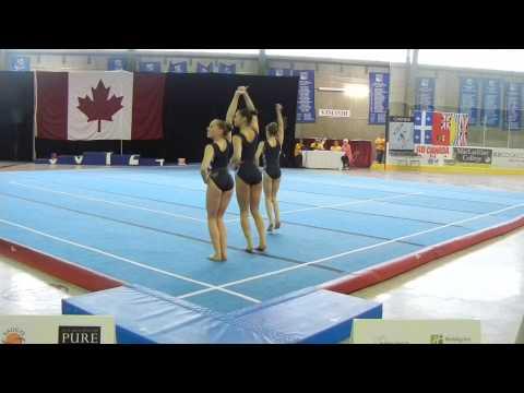 WG FIG 12 18 Oakville Gymnastics Club Combined C  Penner E  Oswald A  D'Souza 2015 National Acro Cup
