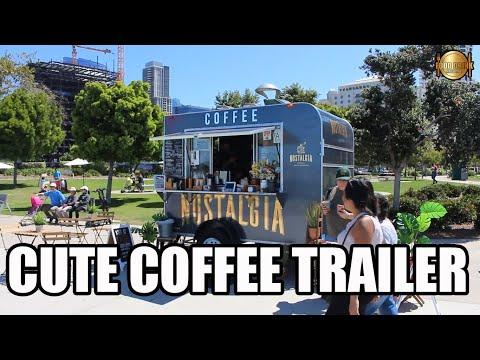 Cute Coffee Trailer In San Diego